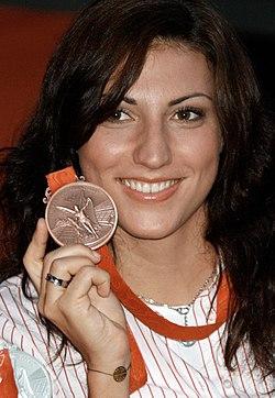 Mirna Jukic olympic medal 2008.jpg