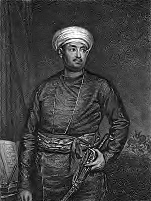 Mirza Abu Taleb Khan - Engraving of Mirza Abu Taleb Khan based on a portrait by James Northcote