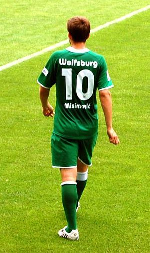 Zvjezdan Misimović - Misimović playing for Wolfsburg.