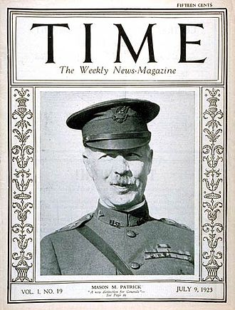 Mason Patrick - General Patrick on the cover of the July 23, 1923 issue of Time
