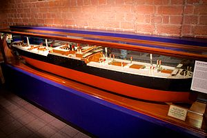 SS Mount Temple - Builder's Model of the SS Mount Temple, in the Merseyside Maritime Museum.