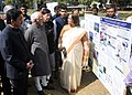 Mohd. Hamid Ansari visiting an exhibition at the inauguration of the 3rd National Seminar on Social Innovation, organised by the Pune International Centre (PIC), in Pune. The Governor of Maharashtra.jpg