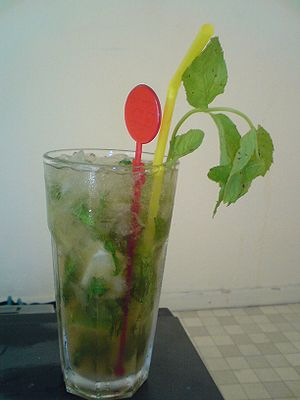 European Mojito with crushed ice.