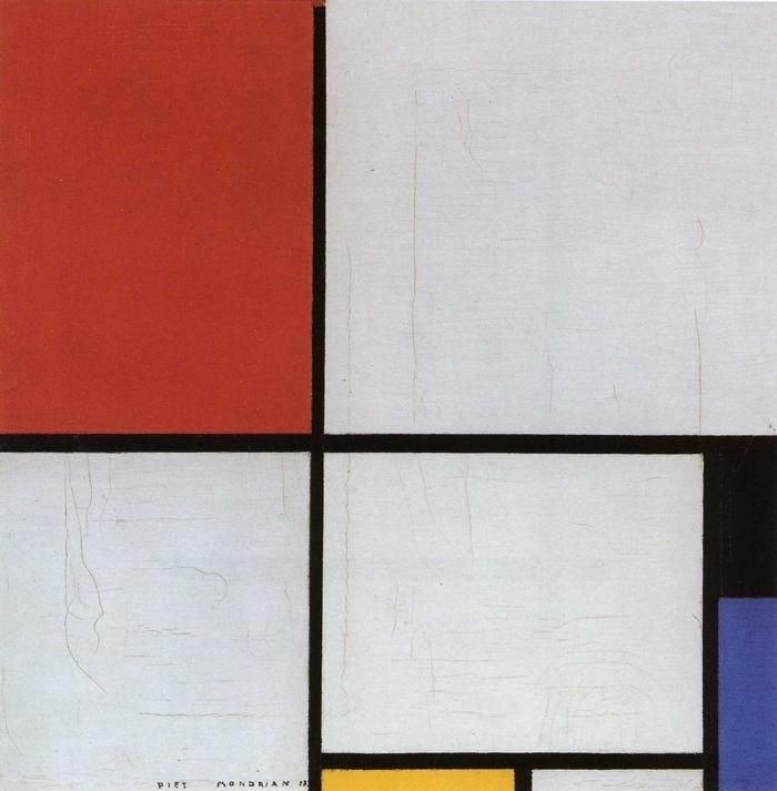Mondrian, Compositie met rood, geel en blauw