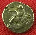 Monetiere di fi, moneta romana repubblicana con eracle e i serpenti 01.JPG