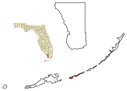 Monroe County Florida Incorporated and Unincorporated areas Marathon Highlighted.svg