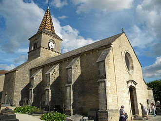 Monthelie - The church in Monthelie