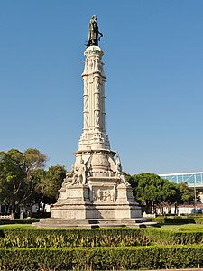 Monument to and at the Square Afonso de Albuquerque (Lisbon, Portugal).JPG