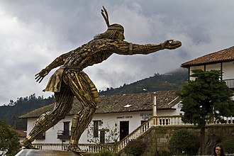 Tejo (sport) - Statue in honor of this sport.