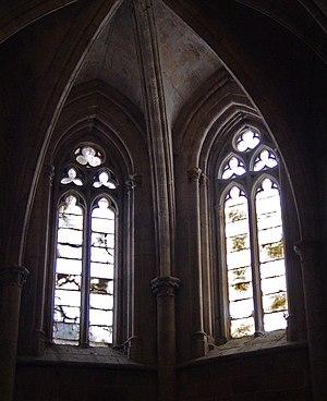 Window - Alabaster 'mullion' divided decorative windows in Santa Maria La Major church (Morella, Spain).
