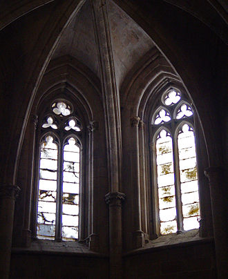 Window - Alabaster 'mullion' divided decorative windows in Santa Maria La Major church (Morella, Spain).