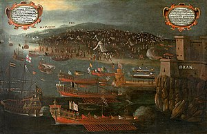 Expulsion of the Moriscos - Disembarking of the Moriscos at Oran port  (1613, Vicent Mestre), Fundación Bancaja de Valencia