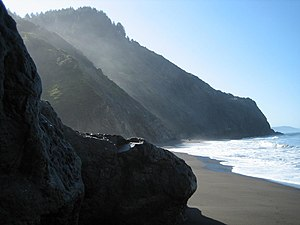 California Coast Ranges - Outer Northern Coast Ranges: King Range meets the sea on the Lost Coast.