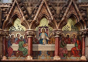 Christ Church, Southgate - Reredos by Salviati of Venice