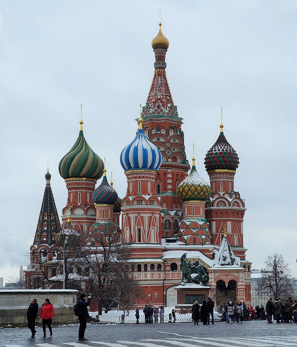 Moscou.- La Cathédrale Basile-le-Bienheureux