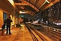 Moscow Monorail, Ulitsa Milashenkova station at night.jpg