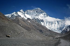 Rongbuk Glacier - Image: Mount Everest from Rongbuk may 2005