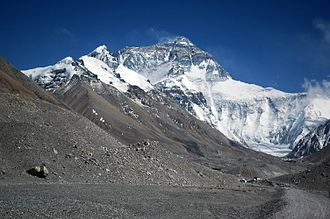 Anatoli Boukreev - View of Mount Everest from Rongbuk Glacier