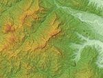 Mount Myōgi Relief Map, SRTM-1.jpg