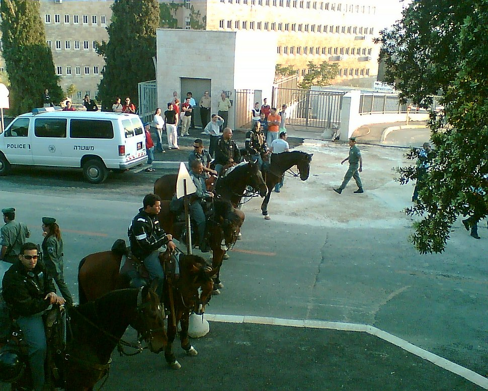 Mounted police in Israel
