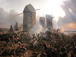 Battle of Mouscron - The Battle of Mouscron 1794 by Charles Louis Mozin