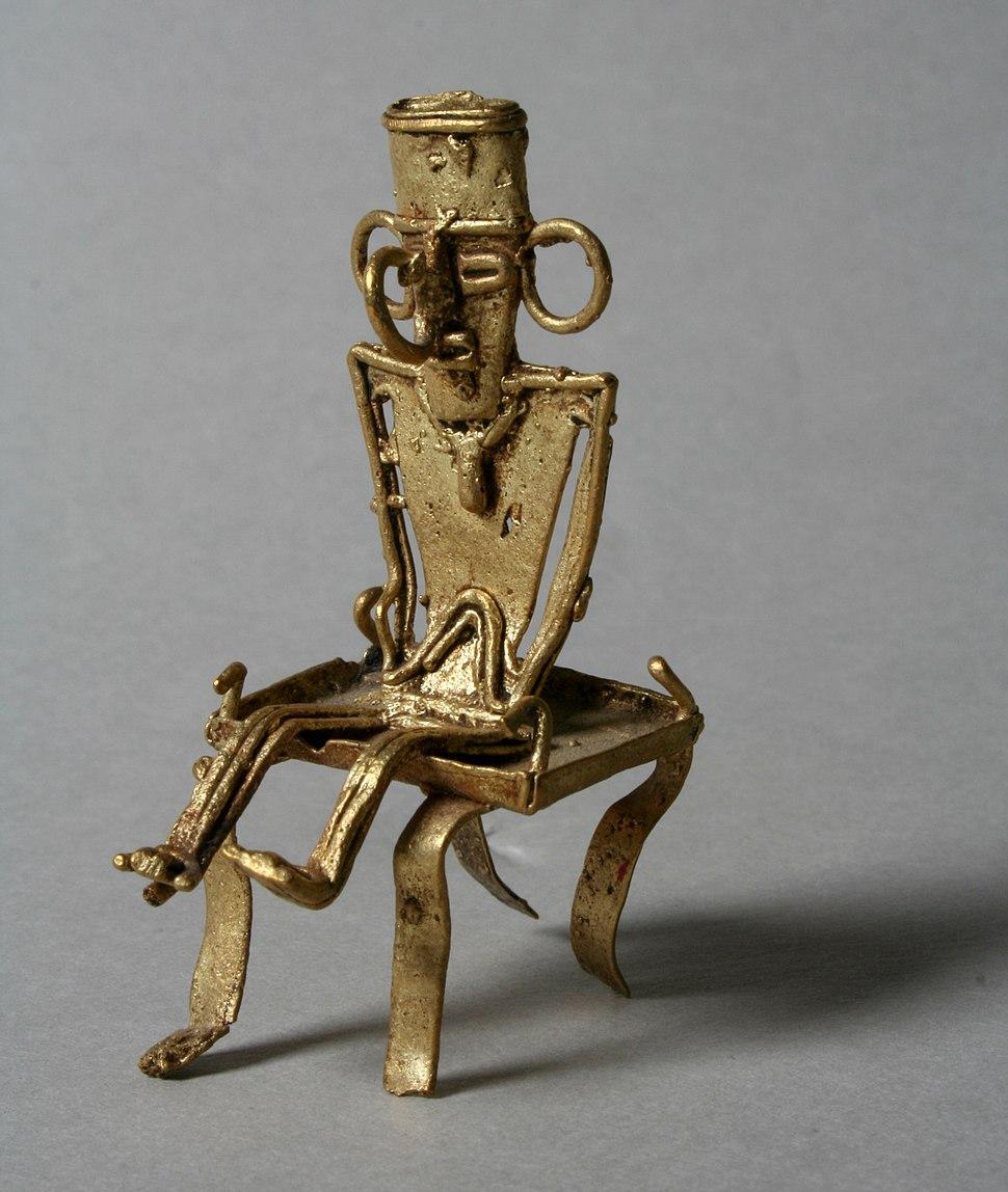 Muisca tunjo on stool - MET - Art. 1979.206.780