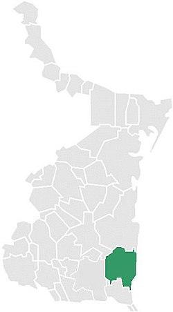 Vị trí của đô thị trong bang Tamaulipas