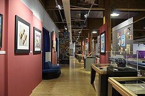 Museo dell'Aeronautica Gianni Caproni intermediate floor and art (2).JPG