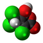 Space-filling model of the mutagen X molecule