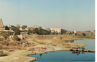 Mutha River - The Mutha river between Onkareshwar temple and Shivaji bridge in the 1980s