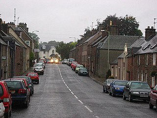 Muthill village in the United Kingdom