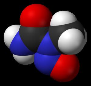 N-Nitroso-N-methylurea - Image: N nitroso N methylurea from xtal 3D vd W
