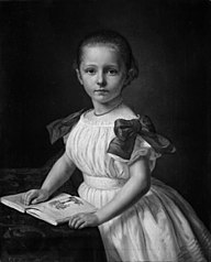 Thyra Schou, f. Knudsen, som barn