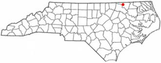 Garysburg, North Carolina - Image: NC Map doton Garysburg