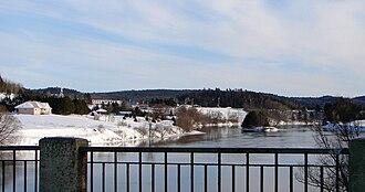 Notre-Dame-de-la-Salette, Quebec - Notre-Dame-de-la-Salette and the Lièvre River.