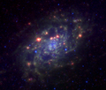 NGC2403 3.6 8.0 24 microns spitzer.png