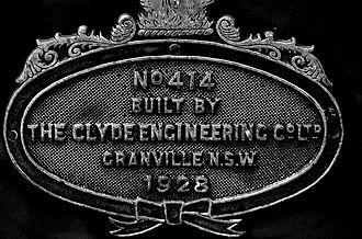 New South Wales C36 class locomotive - Image: NSWGR Locomotive 3642 d