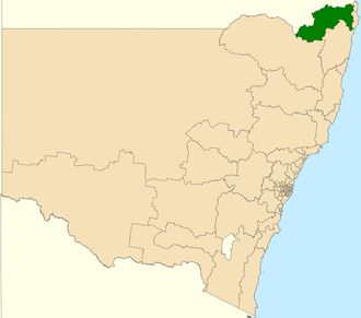 Electoral district of Lismore - Location in New South Wales