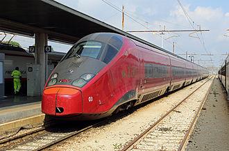 Venezia Santa Lucia railway station - An Italo train at the station.