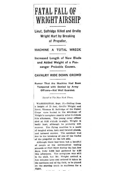 File:NYT - Fatal fall of Wright airship - transcription.djvu