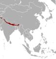 Naemorhedus goral range map.png