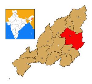 Tuensang district - Image: Nagaland Tuensang district map