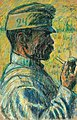 Nagy Smoking a Pipe in Profile 1916.jpg