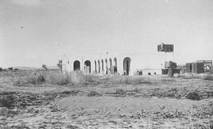 Najd, Gaza - School building used by Yiftach Brigade as dining room, Najd, 1949