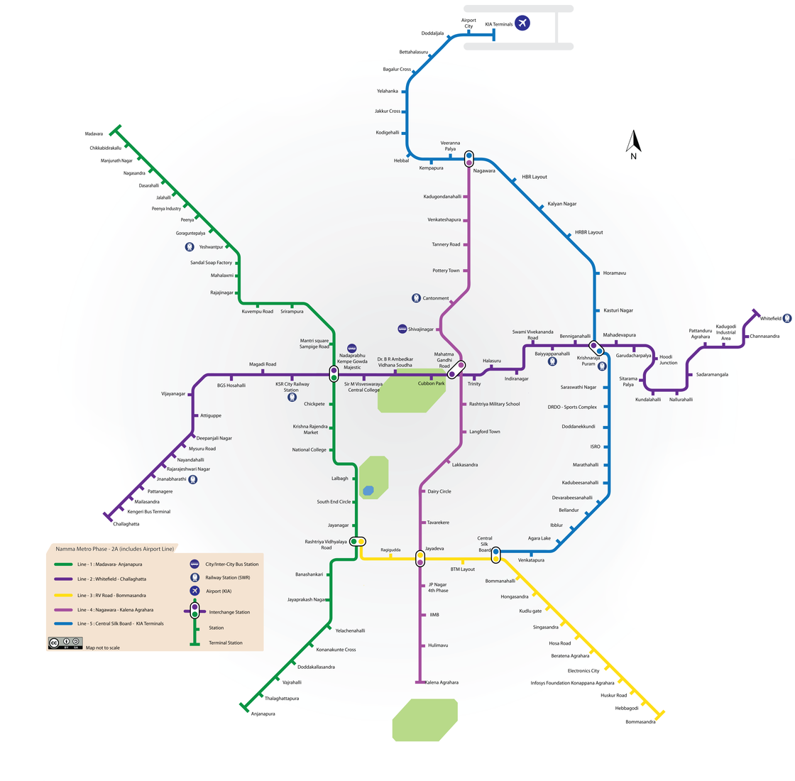 Bangalore Metro Stations Map