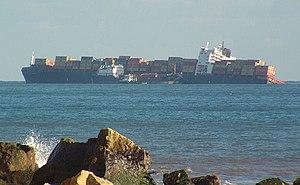 MSC Napoli - MSC Napoli beached off Branscombe