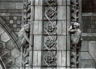 Architectural terracotta - The architectural detail on the facade of the building represents the contents of the Museum