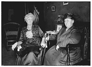 Elisabeth Marbury - Marbury (right) with Mrs. John Sherwin Crosby