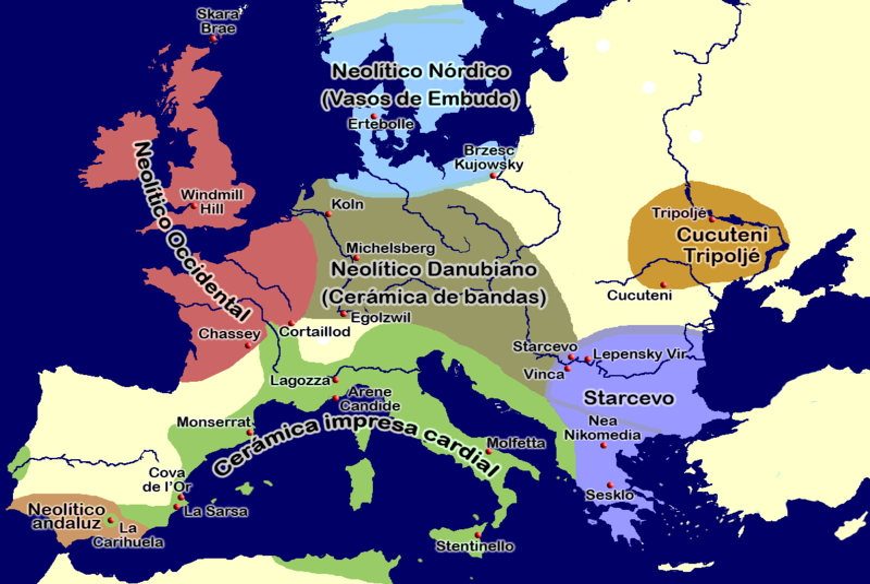 starcevo mapa ARTE NEOLÍTICO EN EUROPA   Prehistoria starcevo mapa