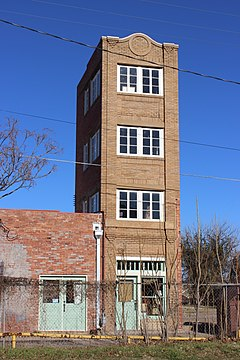 "Newby–McMahon Building, c. 1919, also known as the ""Worlds Littlest Skyscraper"""